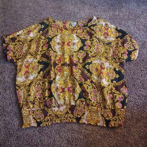 Worthington woman multicolor dressy shirt